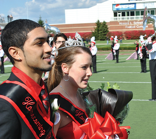 2011 Homecoming King and Queen: Peyton Siva and Olivia Feldkamp