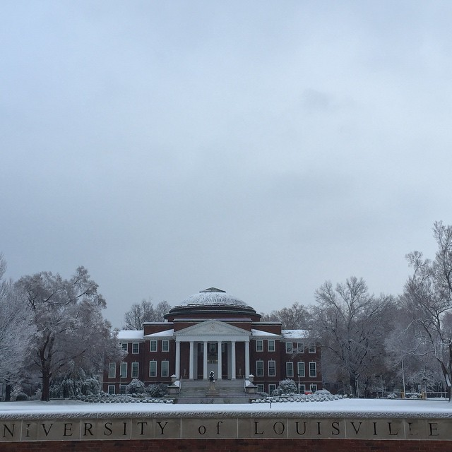 First Winter Snow 2014 #uofl